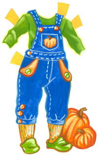 Fiona's overalls for pumpkin picking