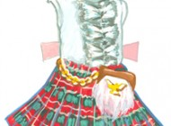 Madame Alexander Scottish girl kilt.
