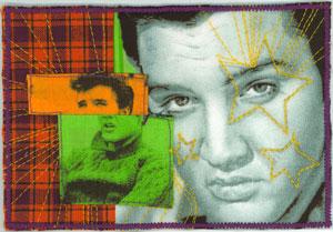 Elvis fabric post card.