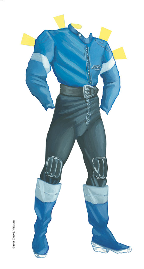 blue and gray leathers