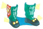 Madame Alexander Scottish girl shoes and socks.