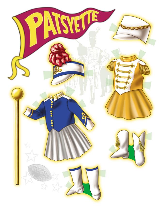 Patsyette doll as a majorette.