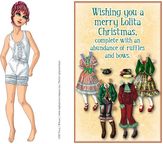 Lolita Christmas doll and cover